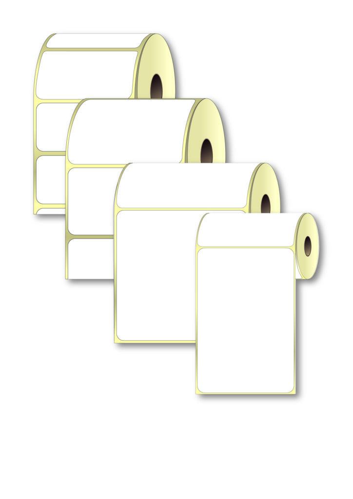 этикетки самоклеящиеся a4 белые в рулоне